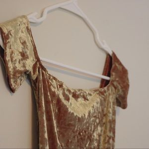 Urban Outfitters Tops - Out From Under UO Gold Velvet Bodysuit